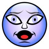 Doen schrikken gezicht Stock Foto