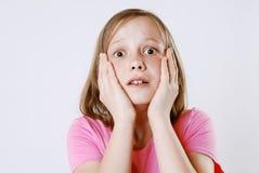 Doen schrikken meisje Stock Foto's