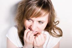 Doen schrikken meisje Stock Foto