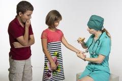 Doen schrikken van de arts Stock Fotografie