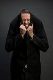 Doen schrikken zakenman Stock Foto