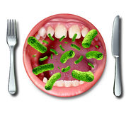 Doença da intoxicação alimentar Imagens de Stock