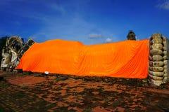 Doende leunen Boedha het belangrijkste oriëntatiepunt in Ayutthaya Thailand op 24 September, 2017 Stock Afbeelding