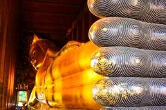 Doende leunen Boedha van Thailand Stock Foto