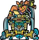 Doende leunen Mayan royalty-vrije illustratie