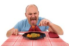Doende walgen groenten Stock Afbeeldingen