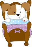 Doente bonito do filhote de cachorro Fotografia de Stock
