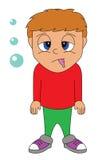 doente do menino ilustração stock