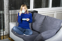 Doente em meu apartamento Foto de Stock