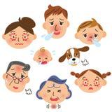 Doente nas famílias ilustração royalty free