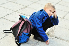 Does not want to school Stock Photo