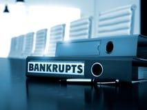 Doet failliet gaan op Bureauomslag Vaag beeld 3d Stock Fotografie
