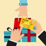 dof καρτών αγορές χεριών εστίασης ρηχές on-line πολύ Στοκ εικόνα με δικαίωμα ελεύθερης χρήσης