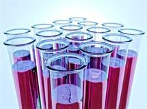 dof fluidu menchii płycizna dziesięć próbnych tubk Obraz Royalty Free