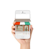 dof ręce karty ogniska płytki zakupy online bardzo Obrazy Royalty Free