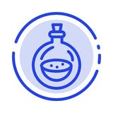 Doft flaskan, Toilette, besprutar den blåa prickiga linjen linjen symbol vektor illustrationer