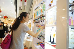Doft kontrar i shoppinggallerior, Kina arkivbilder