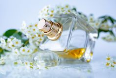 Doft med vita blommor arkivbild