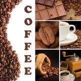 dofta kaffecollage Fotografering för Bildbyråer