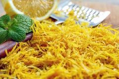 Doftande citronpiff grated tätt upp Fotografering för Bildbyråer