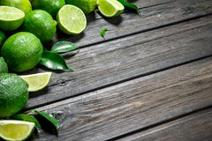 Doftande grön limefrukt arkivbilder