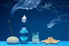 Dofter och rök arkivfoto