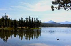 Dog湖风景,图奥勒米草甸,优胜美地 图库摄影