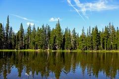 Dog湖风景,图奥勒米草甸,优胜美地 库存图片