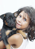With dog Royalty Free Stock Images