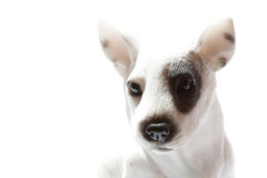 Dog. Small statue of the white dog Royalty Free Stock Image