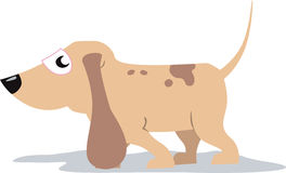 Dog. Illustration of a  small dog is walking Stock Photo