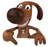 Dog. Fun dog, 3d generated picture