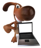 Dog. Fun dog, 3d generated picture Royalty Free Stock Photography