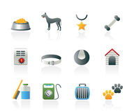 Dog accessory and symbols icons Royalty Free Stock Photography