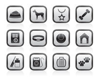 Dog accessory and symbols icons Stock Image