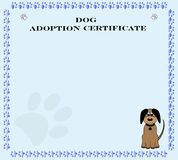 Dog Adoption Certificate Stock Image