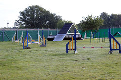 Dog agility course landscape Royalty Free Stock Photography