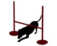 Dog agility: dog creeping Stock Photography
