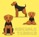 Dog Airedale Terrier Cartoon Vector Illustration Stock Images