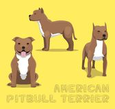 Dog American Pitbull Terrier Cartoon Vector Illustration Royalty Free Stock Image