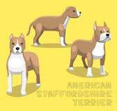 Dog American Staffordshire Terrier Cartoon Vector Illustration Stock Photos
