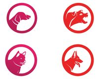 Dog animals logo pets shop template icons app.  Stock Image