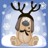 Dog with antlers Stock Photos