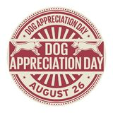 Dog Appreciation Day, August 26. Rubber stamp, vector Illustration stock illustration