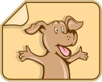 Dog Arms Out Label Cartoon Stock Photos
