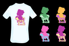 Dog as human best friend t shirt design Royalty Free Stock Images