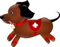 Dog as paramedic royalty free illustration