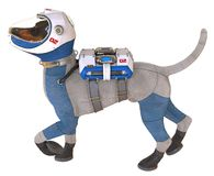 Dog in an astronaut`s space suit. 3D illustration isolated on white. 3D illustration. Dog in an astronaut`s space suit, isolated on white Royalty Free Stock Images