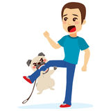 Dog Attacking Royalty Free Stock Image