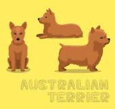 Dog Australian Terrier Cartoon Vector Illustration Stock Photo